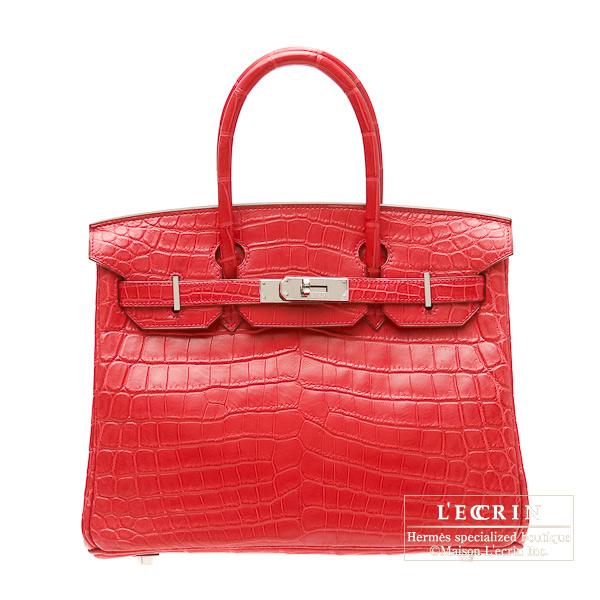 Hermes Birkin bag 30 Bougainvillier Matt niloticus crocodile skin Silver  hardware 4381db4a5d
