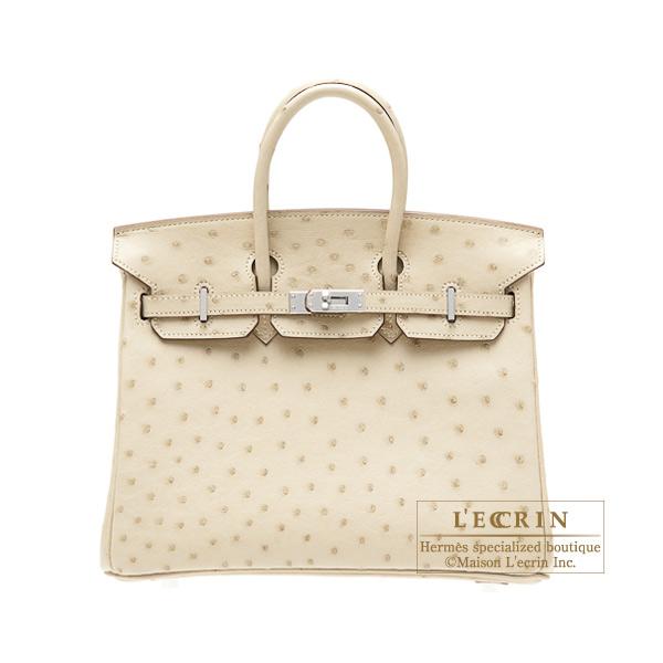 2ff43de29081 Lecrin Boutique Tokyo  Hermes Birkin bag 25 Parchemin Ostrich ...