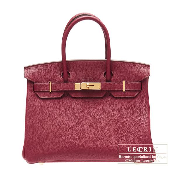 ファッションの エルメス バーキン30 30 Ruby Togo ルビー トゴ ゴールド金具 HERMES Birkin bag leather Gold 30 bag Ruby Togo leather Gold hardware, イマダテグン:12c6c9e3 --- evirs.sk