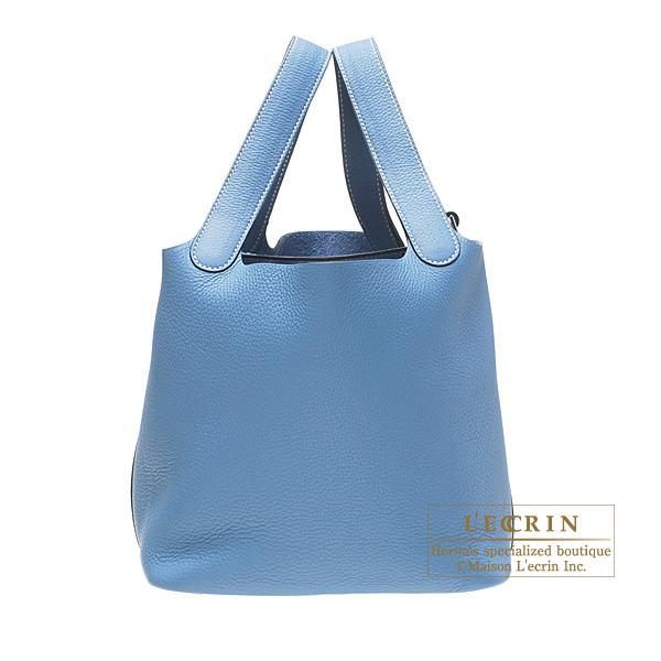 手数料安い エルメス ピコタンMM Brand ブルージーン トリヨンクレマンス シルバー金具 【Luxury bag hardware Brand Selection】 Hermes Picotin bag MM Blue jean Clemence leather Silver hardware, ナカヤママチ:407fd15a --- hafnerhickswedding.net