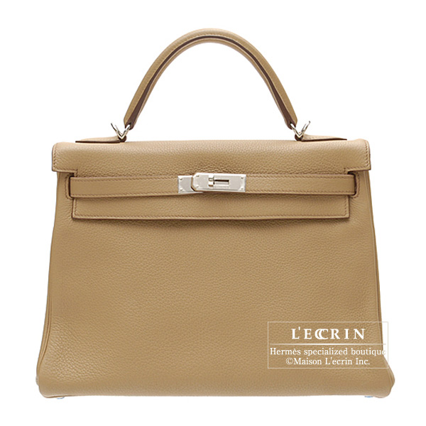 【50%OFF】 エルメス ケリー32/内縫い タバックキャメル トリヨンクレマンス シルバー金具 HERMES Kelly camel Clemence bag 32 Retourne Tabac camel Clemence leather Silver hardware, クロセチョウ:b788c919 --- camminobenedetto.localized.me