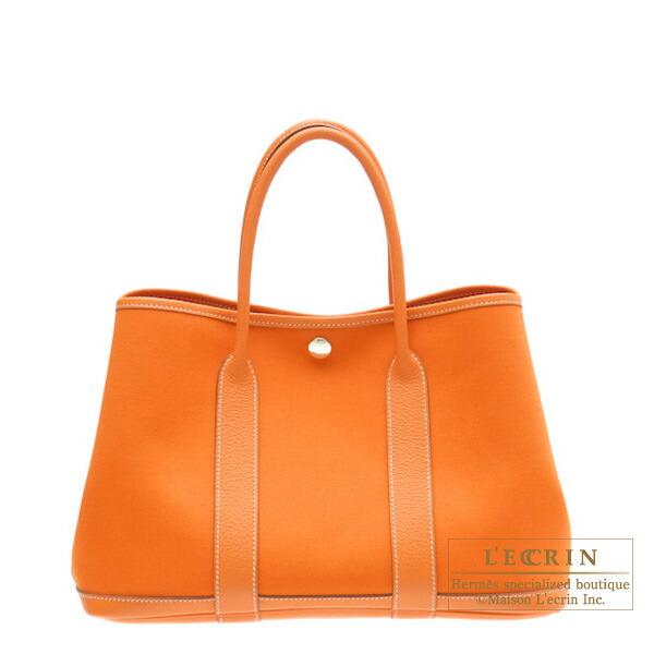Lecrin Boutique Tokyo  Hermes Garden Party bag TPM Orange Cotton ... 454ec5be07c91