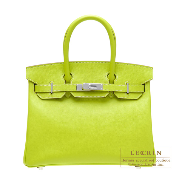 d736803a5c Hermes Candy Birkin bag 30 Kiwi Kiwi green Epsom leather Silver hardware