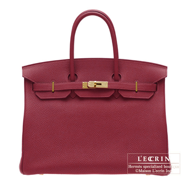 Lecrin Boutique Tokyo  Hermes Birkin bag 35 Ruby Togo leather Gold ... d5794f25ed33c