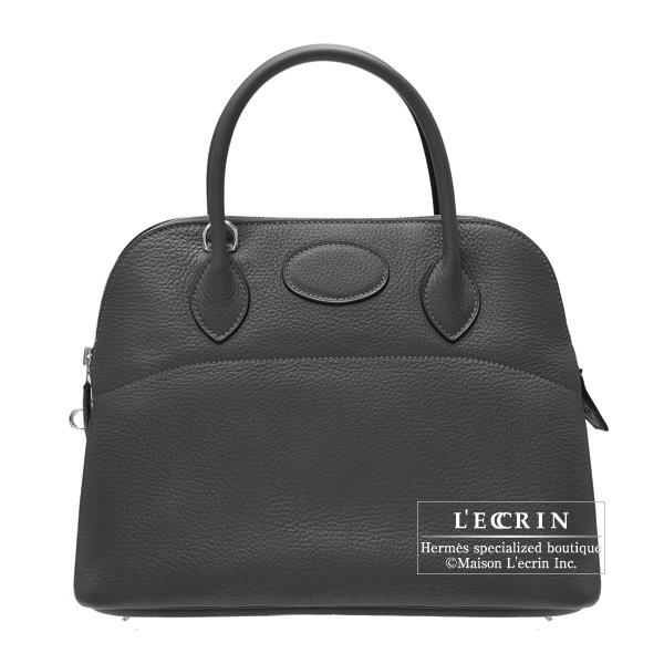 エルメス ボリード31 ブラック トリヨンクレマンス シルバー金具 HERMES Bolide bag 31 Black Clemence leather Silver hardware