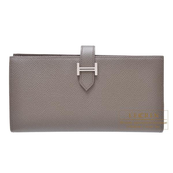 エルメス ベアンスフレ エタン ヴォーエプソン シルバー金具 HERMES Bearn Soufflet Etain Epsom leather Silver hardware
