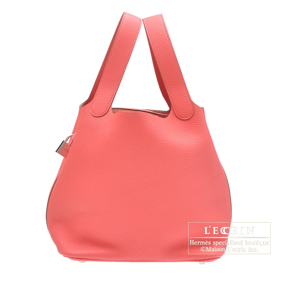 bef3256a04fe Hermes Picotin Lock bag MM Rose jaipur Clemence leather Silver hardware