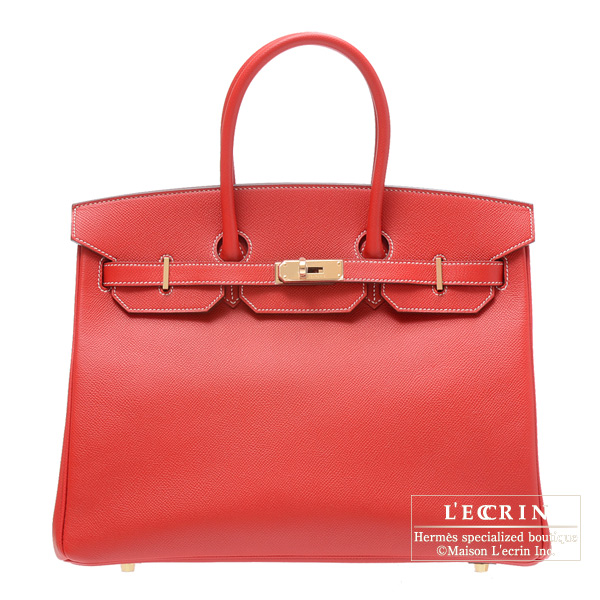 Hermes Candy Birkin bag 35 Rouge casaque Epsom leather Champagne Gold  hardware cc616aa7ac