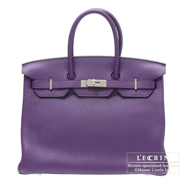 c1efdfc090 Lecrin Boutique Tokyo  Hermes Birkin bag 35 Ultraviolet Clemence ...
