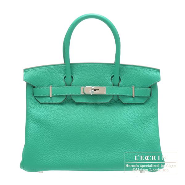 欲しいの エルメス バーキン30 ミント トリヨンクレマンス シルバー金具 hardware HERMES Birkin bag bag 30 Menthe Clemence leather Silver hardware, オーダーメイドジュエリーメイ:66e2d5a9 --- online-cv.site
