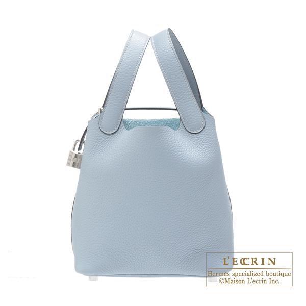 エルメス ピコタンロックPM ブルーラン トリヨンクレマンス シルバー金具 HERMES Picotin Lock bag PM Blue lin Clemence leather Silver hardware:西麻布レクラン