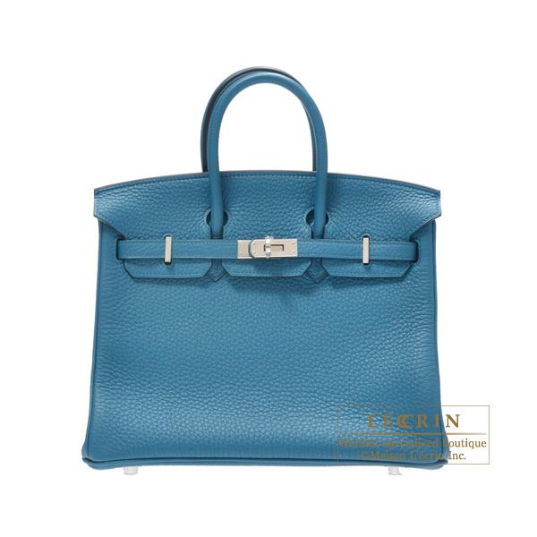 fd81692749cb Hermes Birkin bag 25 Cobalt Togo leather Silver hardware