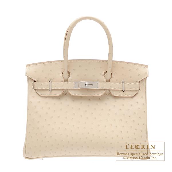 349686e2a3 Lecrin Boutique Tokyo: Hermes Birkin bag 30 Parchemin Ostrich ...