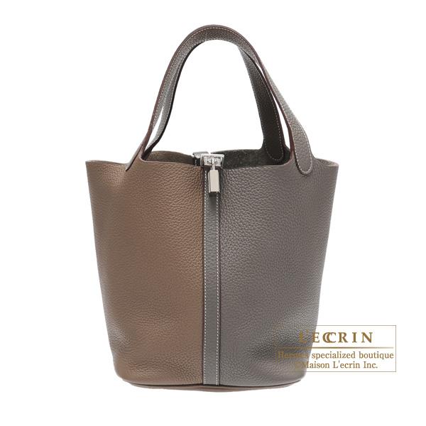 31a4f8b112bd Lecrin Boutique Tokyo  Hermes Picotin Lock bag MM Etoupe grey Etain Clemence  leather Silver hardware