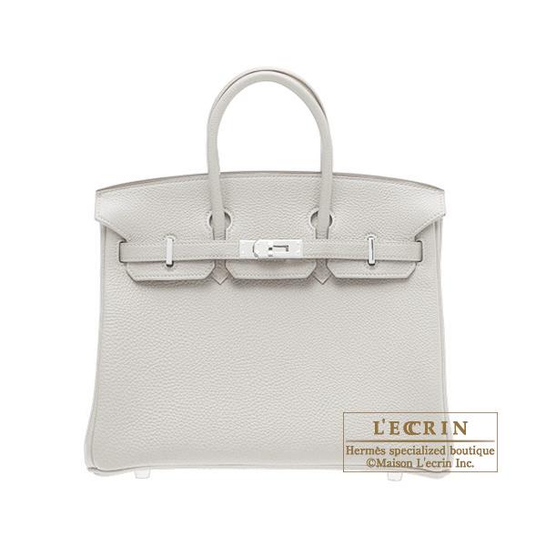 エルメス バーキン25 パールグレー トゴ シルバー金具 HERMES Birkin bag 25 Pearl grey Togo leather Silver hardware