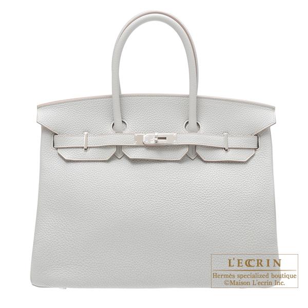 エルメス バーキン35 パールグレー トリヨンクレマンス シルバー金具 HERMES Birkin bag 35 Pearl grey Clemence leather Silver hardware