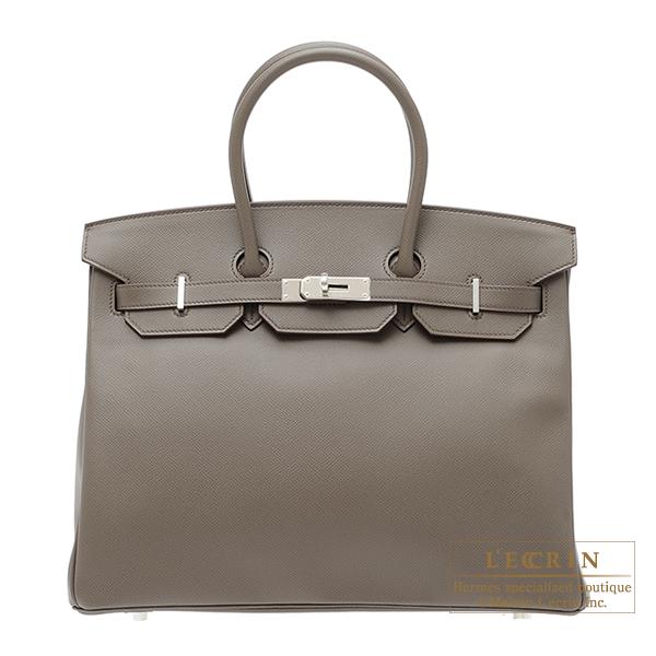 エルメス バーキン35 エタン ヴォーエプソン シルバー金具 HERMES Birkin bag 35 Etain Epsom leather Silver hardware