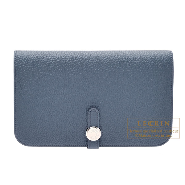 エルメス ドゴンGM ブルーオラージュ トゴ シルバー金具 HERMES Dogon GM Blue orage Togo leather Silver hardwarewZiOTPXku