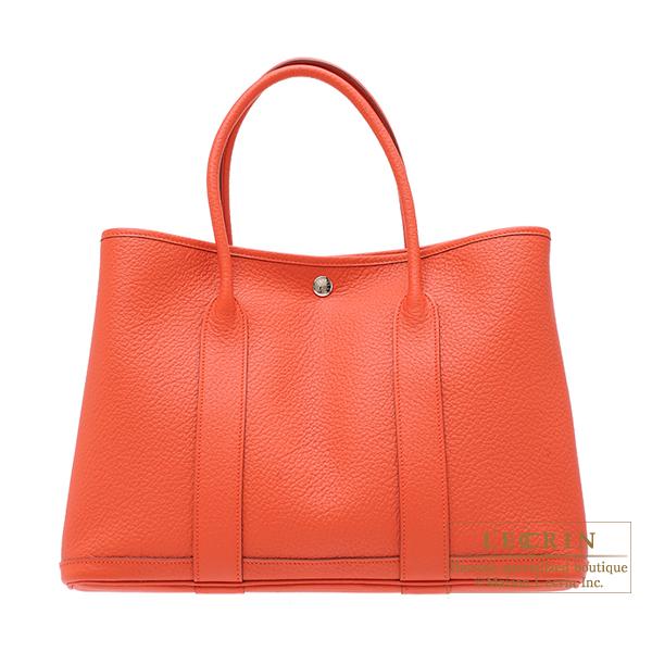 エルメス ガーデンパーティPM カプシーヌ ネゴンダ シルバー金具 HERMES Garden Party bag PM Capucine Negonda leather Silver hardware