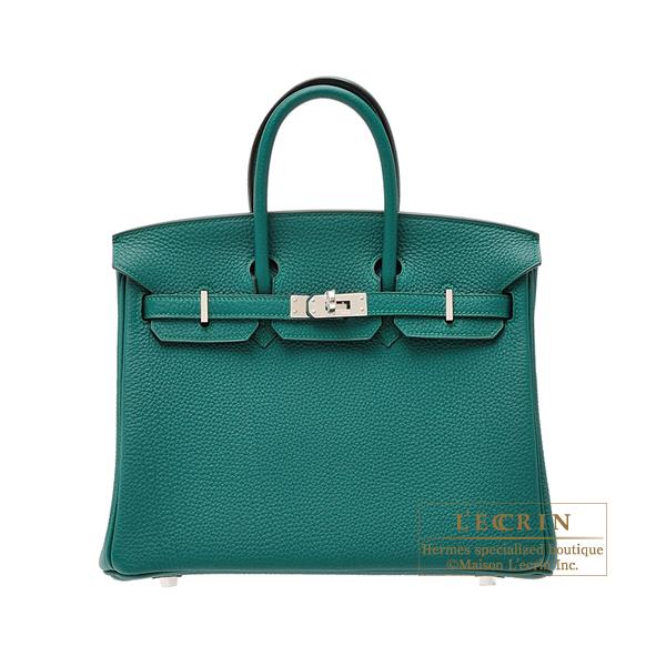 トミカチョウ エルメス バーキン25 マラカイト トゴ シルバー金具 HERMES Birkin bag 25 Malachite Togo leather Silver hardware, 新鮮雑貨マーケット 4a7ce25f