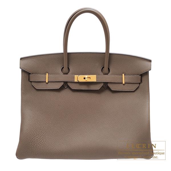 Lecrin Boutique Tokyo  Hermes Birkin bag 35 Taupe grey Togo leather ... 917c333d3dab