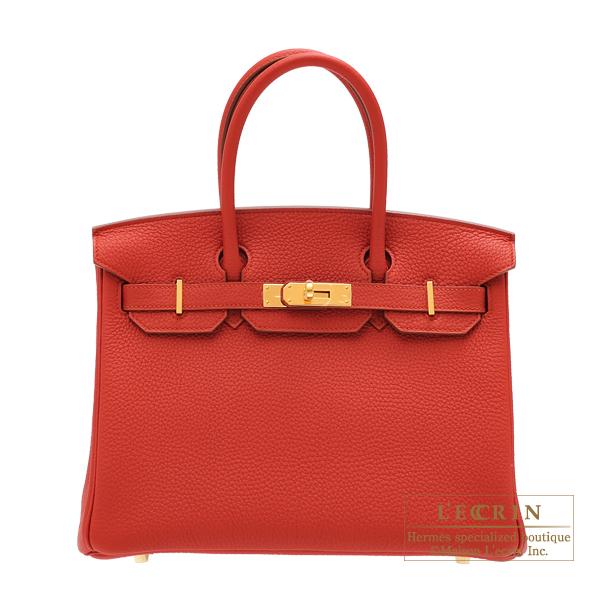 憧れの エルメス バーキン30 ヴァーミリオン トゴ ゴールド金具 HERMES Birkin bag 30 Vermillon Togo leather Gold hardware, 四季の郷温泉水 64ecb0dd