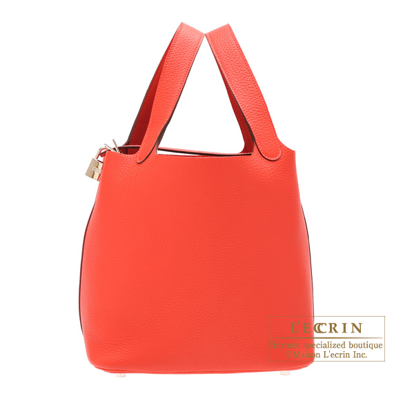 ... canada hermes picotin lock bag mm rouge pivoine clemence leather silver  hardware e6434 a03e2 ... 2d59083610