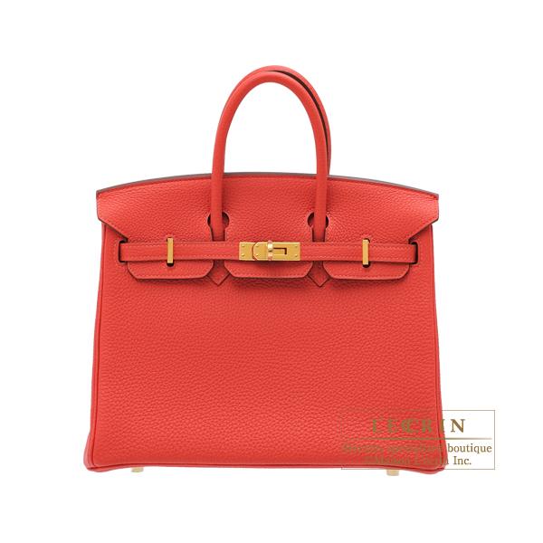 エルメス バーキン25 ルージュピヴォワンヌ トゴ ゴールド金具 HERMES Birkin bag 25 Rouge pivoine Togo leather Gold hardware