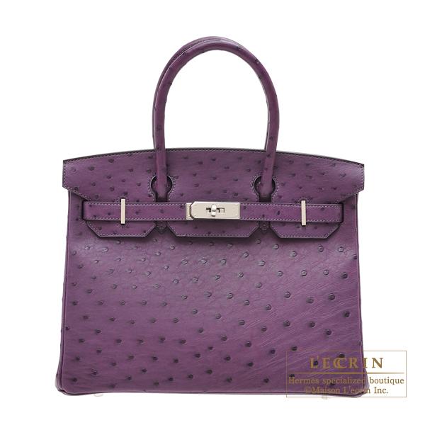 1883691236 Lecrin Boutique Tokyo: Hermes Birkin bag 30 Violet Ostrich leather ...