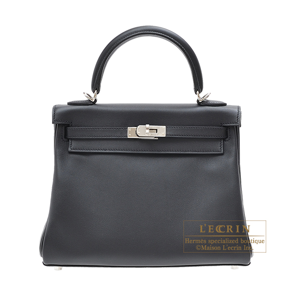 a0c4869c5f87 Lecrin Boutique Tokyo  Hermes Kelly bag 25 Retourne Black Swift ...