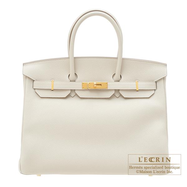 エルメス バーキン35 クレ トゴ ゴールド金具 HERMES Birkin bag 35 Craie Togo leather Gold hardware