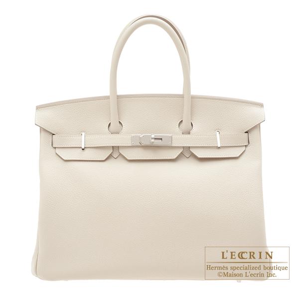 エルメス バーキン35 クレ トゴ シルバー金具 HERMES Birkin bag 35 Craie Togo leather Silver hardware