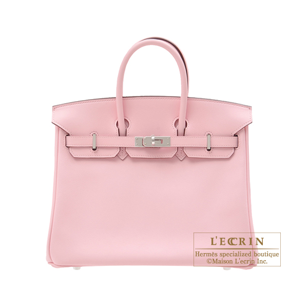 Hermes Birkin bag 25 Rose sakura Swift leather Silver hardware