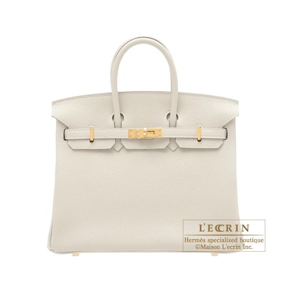 e2c48d5cb265 Lecrin Boutique Tokyo  Hermes Birkin bag 25 Craie Togo leather Gold ...