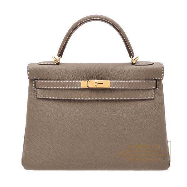 値引きする エルメス ケリー32/内縫い エトゥープ トゴ ゴールド金具 hardware HERMES leather Gold Kelly 32 Retourne Etoupe bag 32 Retourne Etoupe grey Togo leather Gold hardware, 超美品:6e956802 --- verandasvanhout.nl