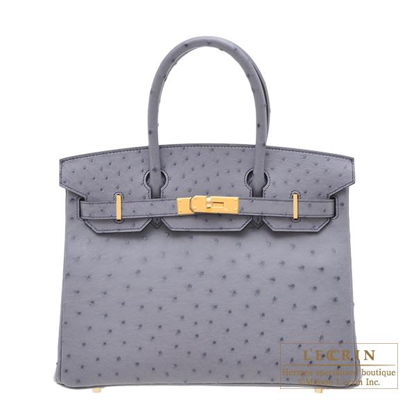 e6cf82c7c820 Lecrin Boutique Tokyo  Hermes Birkin bag 30 Gris agate Ostrich ...