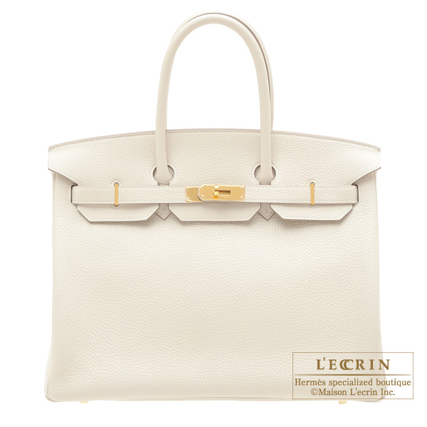 a1a2f80922 Lecrin Boutique Tokyo  Hermes Birkin bag 35 Craie Clemence leather ...