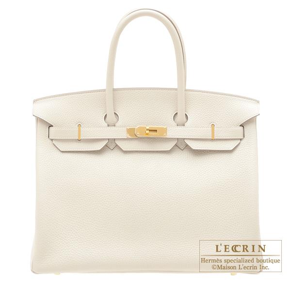 b9447dfe88e0 エルメス バーキン35 クレ トリヨンクレマンス ゴールド金具 HERMES Birkin bag 35 Craie Clemence leather  Gold