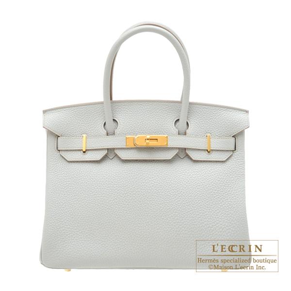 エルメス バーキン30 パールグレー トリヨンクレマンス ゴールド金具 HERMES Birkin bag 30 Pearl grey Clemence leather Gold hardware