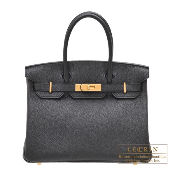 【HERMES】 やっぱり黒が好き!! エルメス/バーキン30/新品/送料無料 エルメス バーキン30 ブラック トゴ ゴールド金具 HERMES Birkin bag 30 Black Togo leather Gold hardware
