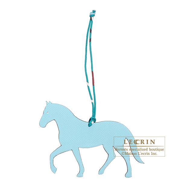 エルメス プティアッシュGM ホース ブルー/ネイビー カーフ/シルク HERMES Petit H GM Horse Blue/Navy Calf/Silk
