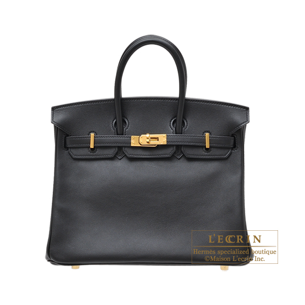 ed4a824569d5 Lecrin Boutique Tokyo  Hermes Birkin bag 25 Black Swift leather Gold ...