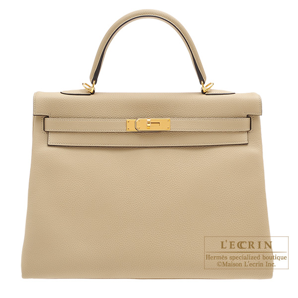 2df5f9f3aa6c ... usa hermes kelly bag 35 retourne trench togo leather gold hardware  979bc 30584