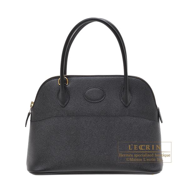 やっぱり黒が好き!! エルメス/ボリード27/新品/送料無料 エルメス ボリード27 ブラック ヴォーエプソン ゴールド金具 HERMES Bolide bag 27 Black Epsom leather Gold hardware