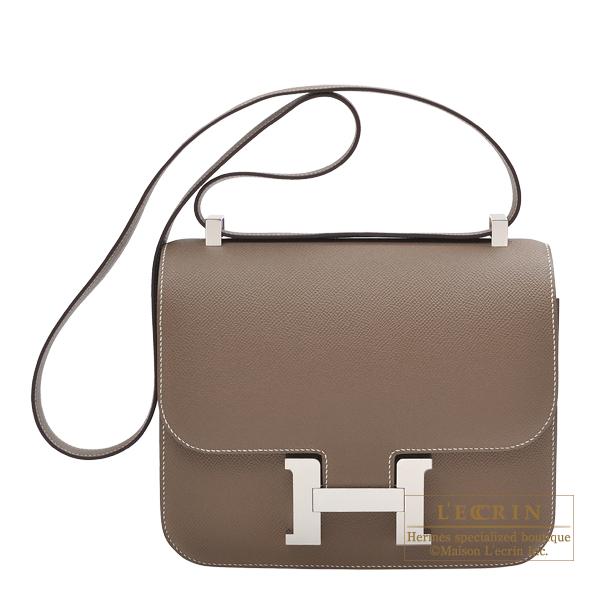 c72a27bbd89c Lecrin Boutique Tokyo  Hermes Constance 24 Etoupe grey Epsom leather ...