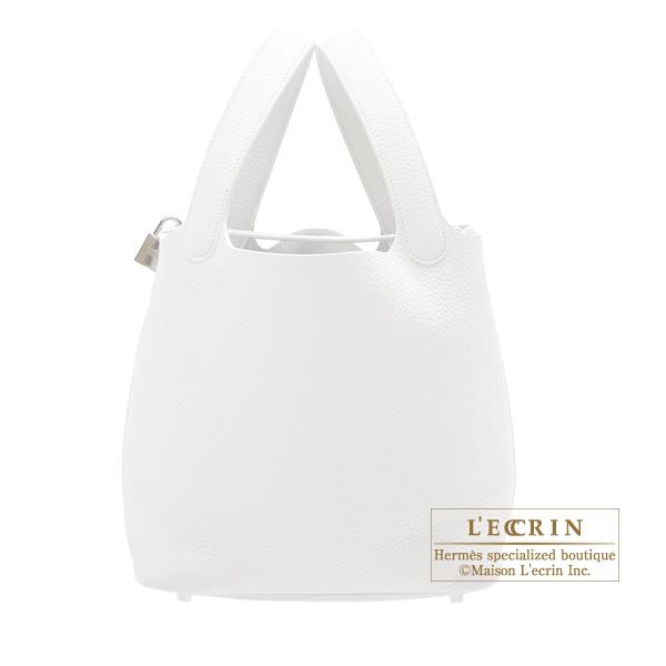 bdf999b01327 Lecrin Boutique Tokyo  Hermes Picotin Lock bag MM White Clemence ...