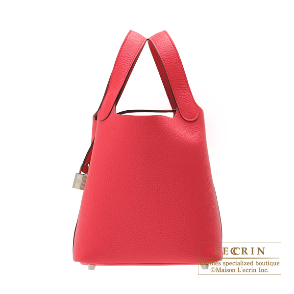... usa hermes picotin lock bag pm rose extreme clemence leather silver  hardware 229b6 12107 f38d3f41adea3