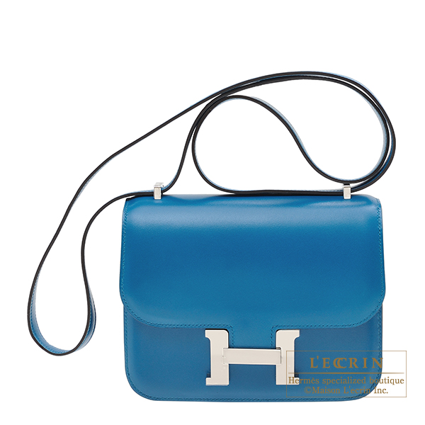 94c53f07679d Lecrin Boutique Tokyo  Hermes Constance mini Blue izmir Tadelakt ...