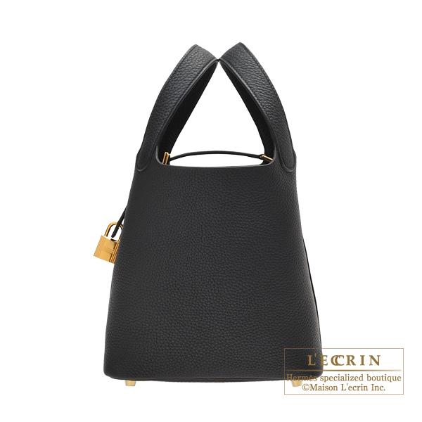 エルメス ピコタンロックPM ブラック トリヨンクレマンス ゴールド金具 HERMES Picotin Lock bag PM Black Clemence leather Gold hardware