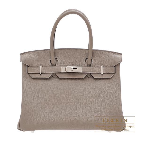 エルメス バーキン30 グリアスファルト トゴ シルバー金具 HERMES Birkin bag 30 Gris asphalt Togo leather Silver hardware